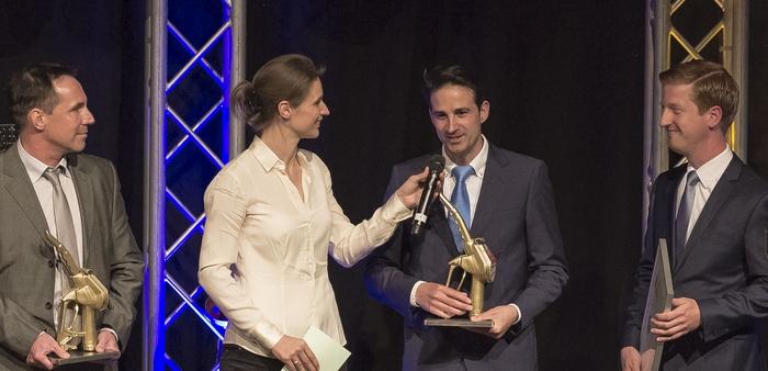 """Salvatore Leo erhielt die Auszeichnung in der Kategorie """"Innovation Online""""."""